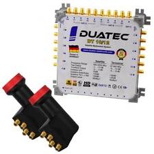 Duatec Multischalter 9/12 Switch FULL HD 3D 4K UHD 12 Teilnehmer + 2x LNB