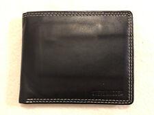 Steve Madden Black & Brown Leather Bifold Wallet