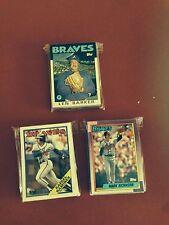 1986 1988 1990 Topps Atlanta Braves 3 Team Sets