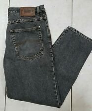 "VINTAGE ""MAVERICK "" Black Acid-washed Denim Jeans Size W38 X L30 100% Cotton."