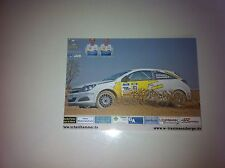 CP POSTCARD CARTOLINA OPEL ASTRA SCHEIDHAMMER RALLY RALLYE WRC 2011