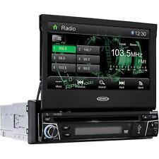 """Jensen 7"""" Motorized Flip Out Car DVD CD Receiver w/ Bluetooth New VX3010"""