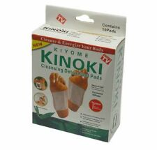 10 x KINOKI DETOX FOOT PAD patch Rimuovi dannose tossine corpo salute UK