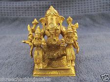 Most Rare 8 Hand Tribal Hindu God Lord Ganesh Ridhi Shidi Brass Statue Figurine