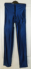 VINTAGE Blu Navy Blue Spandex Da Discoteca Pantaloni/Jeans/Pantalone-eesheta Girl