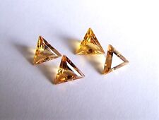 1 Citrin  Dreieck Trilliant  gold gelb 9 mm Seitenlänge