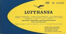 Airline Ticket - Lufthansa - 2 Flight Format - A/C Reg Captains Note 1966 (T413)
