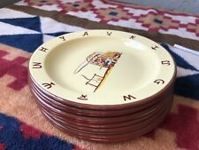 Monterrey Western Ware - 10 Dinner Plates Cowboy Chuckwagon Enamel on Tin Metal