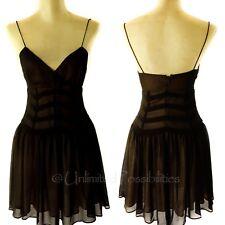 Bardot Chevron Mesh Dress Black Nude Tags Size 8