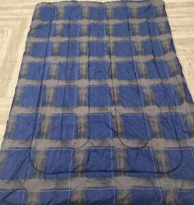 Room Essentials Twin Comforter Reversible Blue or Blue with Gray Tones