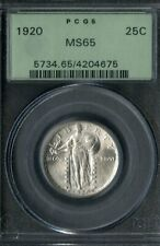 US Coin 1920 Standing Liberty Silver Quarter PCGS MS65 NO RESERVE!