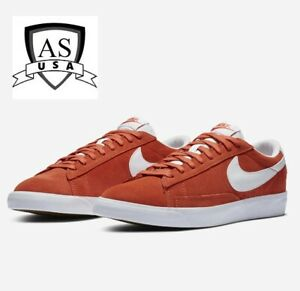Nike Blazer Low Suede Skate Shoes Mantra Orange White CZ4703 800 Men's 8.5 New