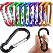 5X Aluminum D-Ring Carabiner Key Chain Clip Snap Hook Karabiner Camping Keyring