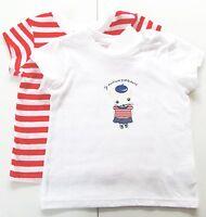 2x T-Shirt Gr.86 H&M NEU 100% Baumwolle weiß rot Set Maus dünn baby sommer SSV