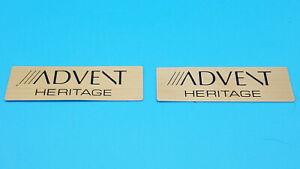 Vintage Advent Heritage Speaker Badges ( Original )
