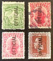 New Zealand.  Optd Official Definitives. 1907-11. Used. #AF84
