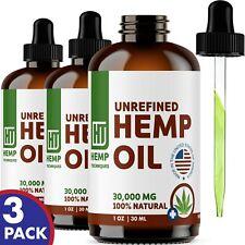Hemp Oil For Pain Relief Anxiety, Sleep 30000 mg 3 PACK 1 oz Each