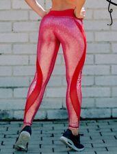 New Woman Luxury Shiny Mesh WorkOut Leggings Brandfit Pants Colombian Ref L4