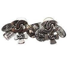 Chanel cc Logo 31 Rue Cambon Orecchini Piercing Argento 99A Vintage Auth #P472 M