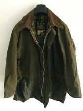 Mens Barbour Border wax jacket Dark Green coat 46 in size Extra Large / 2XL #5