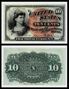 1863  10c Fractional Currency ~ ABOUT UNCIRCULATED