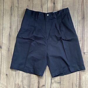 Vintage Ferruche Golf Club Men's Cotton Chino Shorts Pleated Size 34