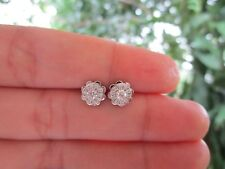 .65 Carat Face Illusion Diamond White Gold Earrings 18k sepvergara