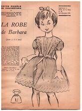 ▬► Patron Couture Supplément Écho de la Mode Robe Taille 5 à 7 ans N°49 1959