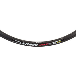"WEINMANN XM280 DISC  32H---26"" x 1.75 BLACK BICYCLE RIM"
