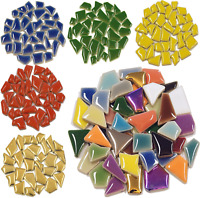 Glazed Ceramic: Jigsaw Mosaic tiles for arts and crafts - Various Colours