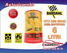 6 LT LITRI OLIO MOTORE AUTO BARDAHL XTC C60 5W40 POLAR PLUS FULLERENE