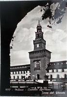 1957 MILANO di Notte - Castello Sforzesco - Torre del Filorete - ediz.Bromofoto