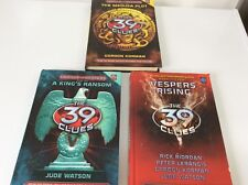 3 BOOKS.THE 39 CLUES.HARDBACK.MEDUSA.KINGS RANSOM.VESPER RISING