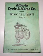 ALBERTA CYCLE & MOTOR CO MOTORCYCLE CATALOGUE CATALOG 1958 CANADA BSA NORTON