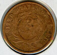 1869 2 ( Two ) Cent Coin