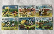 6 Vintage M/LH Disney Stamps GRENADA SYDFEX 88 1988