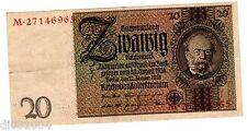 Allemagne GERMANY BILLET 20 Reichsmark 1929 P181 BON ETAT