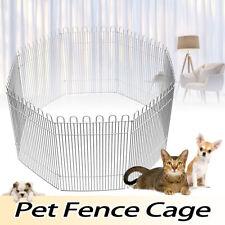 8 Panels Pet Dog Pen Puppy Cat Fence Playpen Rabbit Portable Cage Foldable  *