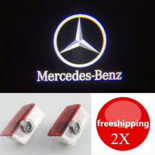 2x LED White 3D Logo Door Courtesy Light for Mercedes Benz A B E-Class 2012-2019