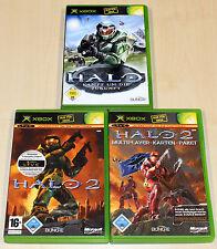 3 GIOCHI XBOX COLLEZIONE Halo 1 multiplayer 2 pacchetto di carte-Shooter 360