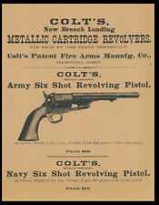 Colt's Army / Navy Revolving Pistol Poster Reprint On 100 Year Old Paper *P007