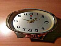 Vintage Treasure Alarm Clock China Gold Color 1970's Rare
