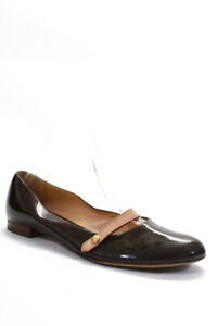 Louis Vuitton Brown Womens Single Strap Ballet Flats Brown Patent Leather 38