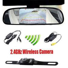 "Funk HD IR Rückfahrkamera Nachtsicht Auto KFZ Einparkhilfe mit 4,3"" Monitor DHL"