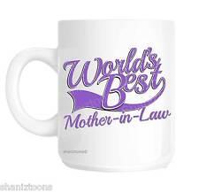 Mother In Law World's Best Purple Novelty Gift Mug shan847