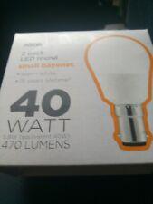 2x ASDA LED Round Light Bulb - Small Bayonet 40watt /5.8 /470 lumens warm white
