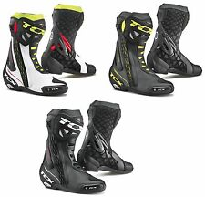 30% OFF TCX RT-RACE Black/Yellow/White/Red Sports Motorbike Racing Boots sizes