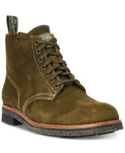 Polo Ralph Lauren Men Combat Boots RL Army Boot Size US 8.5D Hunt Green Suede