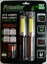 2 pack LED light set area 375 lumens flash safety strobe red flashlight portable