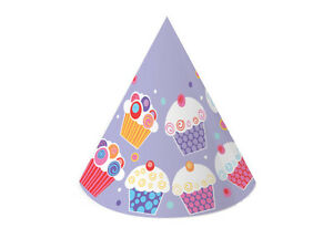 Sweet Cupcake Party Hats (6) - Birthday Party Supplies